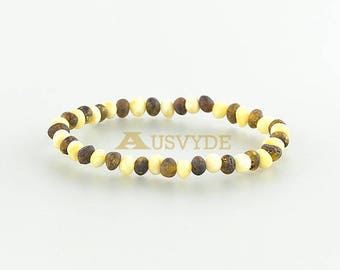 Baltic amber bracelet, Amber Bracelet, Baroque amber, Amber Jewelry, Oval beads, Raw amber bracelet, Beaded Bracelet, 5299