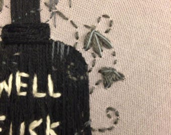 """Well F-ck 4"""" Grave Stone embroidery"""