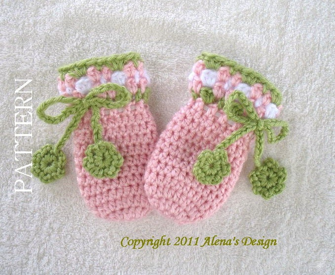 Crochet Pattern 036 Crochet Mitten Pattern For Baby