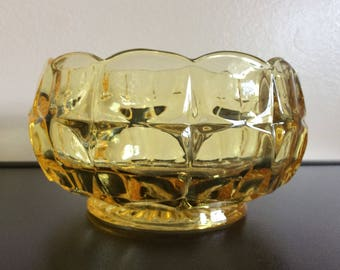 Indiana Glass Tiara Yellow Mist #300 Constellation Nut Bowl