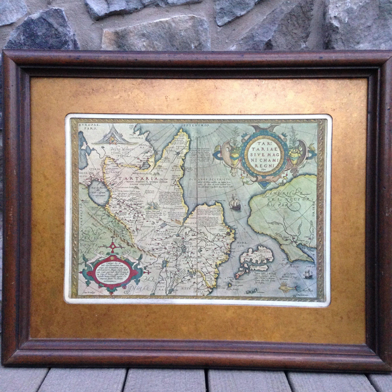 Alten Old World MAP/Königreich der große Khan Karte/Tartariae