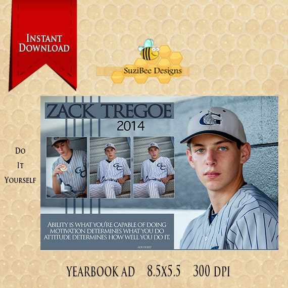 downloadable 12 page yearbook ad template photoshop