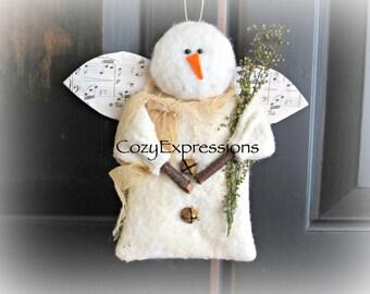 Handmade Primitive Angel Ornament