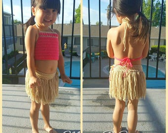 Crochet Moana Costume, Moana Costume, Moana Outfit, Toddler Moana Costume, Child Moana Costume, Moana Birthday, Moana Party