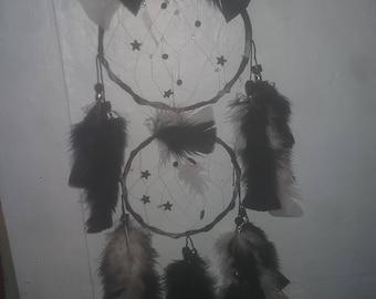 Spiral hoop,dbl ring dreamcatcher