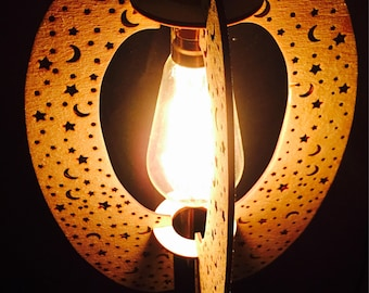 Lasercut wooden lampsade