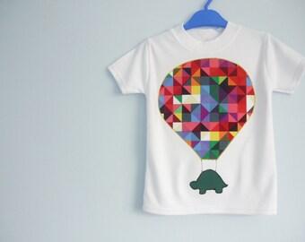 Hot air balloon t-shirt - Trendy kids clothing - Kidswear - childrens clothes - geometric