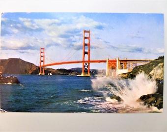 Vintage Postcard Golden Gate Bridge San Francisco, CA