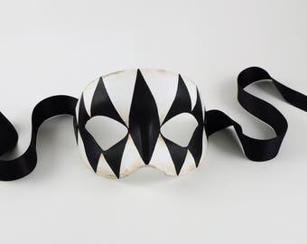 Venetian Masquerade Eye Mask - Opera Arlecchino