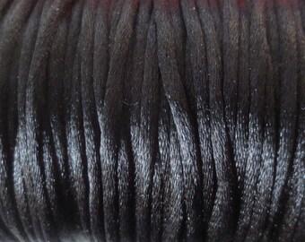1 M x 2mm Black Nylon Rat tail