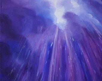 Purple Rain Original Painting