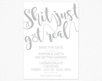 Printable Wedding Invitation Eucalyptus Save The Date - Funny save the date templates free