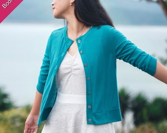 Lisbon Cardigan PDF Sewing Pattern for Women
