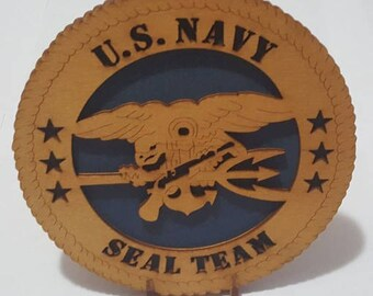 Navy Seal – On Stand Desk Plaque Wooden Model