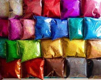 holographic glitter, 0.4mm glitter, nail polish glitter, loose glitter,nail glitter powder,Solvent Resistant glitter,resin glitter,24 colors