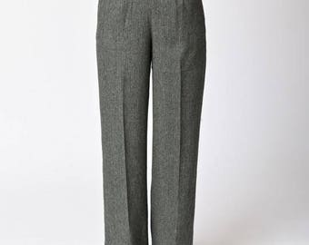 Banned 40s Lady Luck Herringbone Trousers in Grey size 4X - NWT