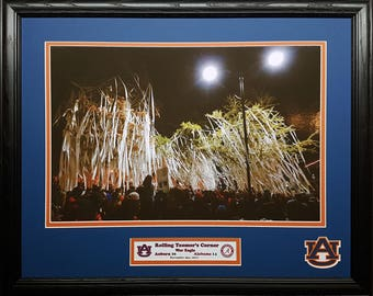 Auburn Tigers 2017 Iron Bowl Champions Rolling Toomer's Corner custom framed picture
