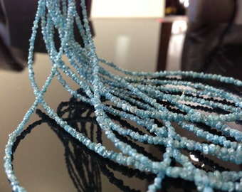 wholesale full strand 16 inches , low price high quality rough blue diamond beads