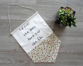 Nordic Style Embroidered Fabric Banner