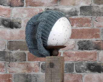 Gray Slouchy Youth Hat