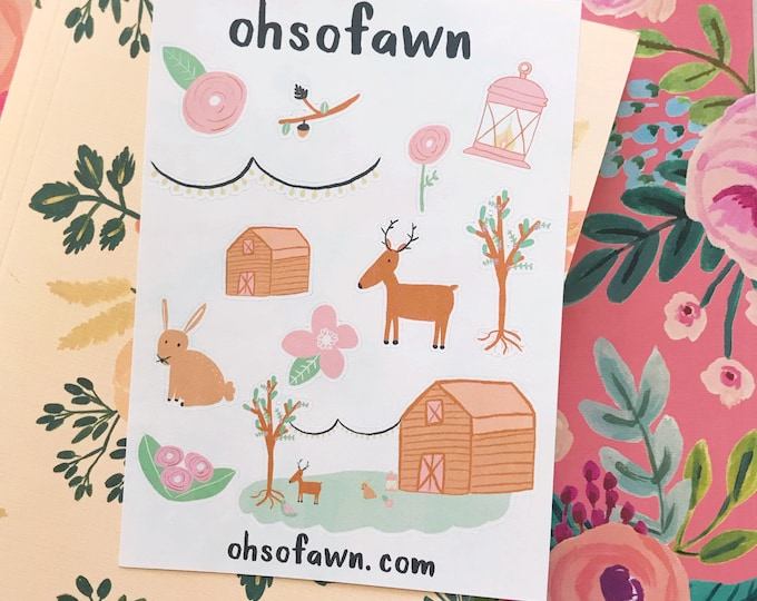 Floral Cabin Stickers