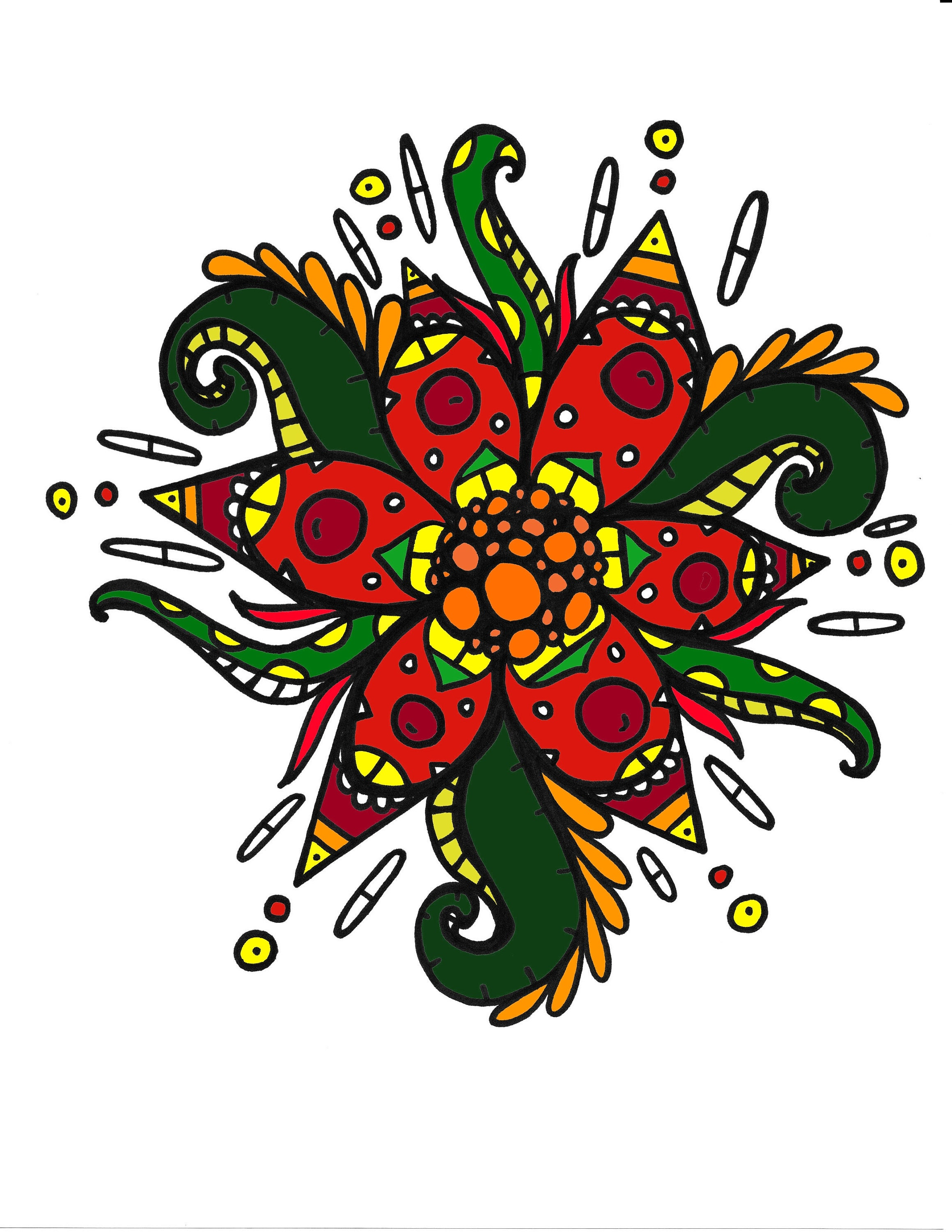 Spike Flower Coloring Page