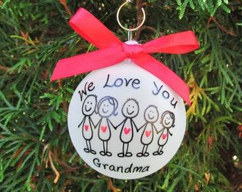 Grandma ornament, family ornament,grandpa Christmas ornament, family Christmas  ornament,angle ornament,grandpa ornament,gift