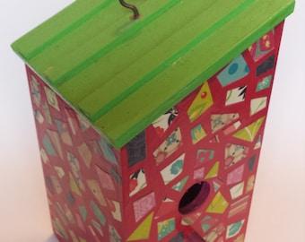 Fauxaic birdhouse