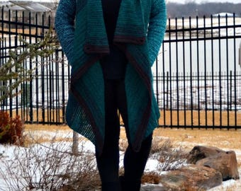 Vertical Row Blanket Cardigan ***CROCHET PATTERN***