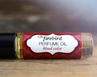 Blood Cedar Perfume Oil,  Blood Orange, Patchouli, Cedar