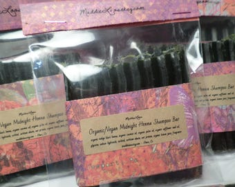 FREE SHIPPING/Vegan/Organic Midnight Henna Shampoo Bar-Organic Indigo Black Henna-conditions-adds shine, and color-very gentle