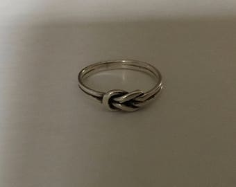 Sterling Silver 925 Love Knot Ring Size 7