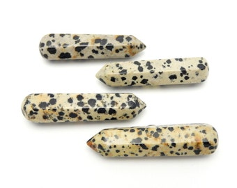 Dalmatian Jasper Massage Wand Points  ( RK19B6-08)