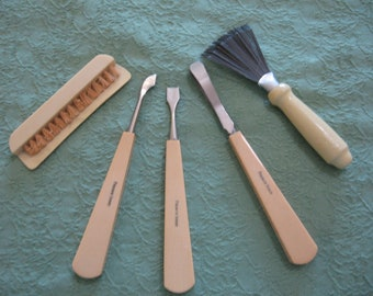 French Ivory Celluloid Manicure Set