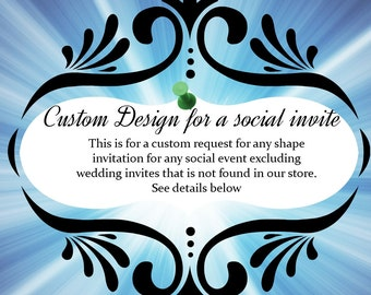 design for sample invitation for a social event