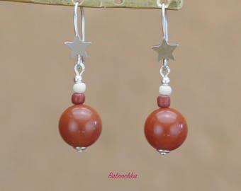 """""""Maela"""" red Jasper earrings"""