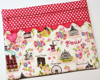 Paris in Pink Cross Stitch Embroidery Project Bag