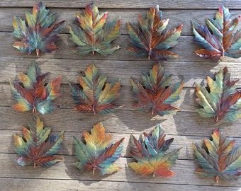 12 Maple leaf ornaments.