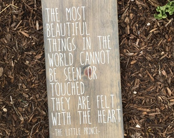 The Most Beautiful Things - Wood Sign