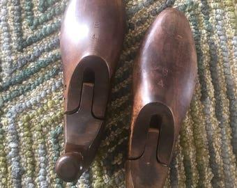 Vintage Wooden Shoe Molds/Forms