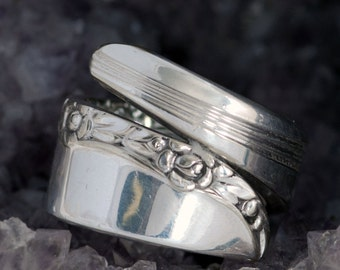 Vintage Spoon Ring - Brittany Rose Spoon Ring - Fascination Spoon Ring - Silverware Ring - Silverware Spoon Ring - Spoon Ring  (mcf  R108)