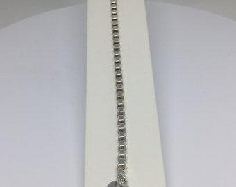 "vintage Tiffany & Co. 7-1/2"" sterling silver Venetian box chain"