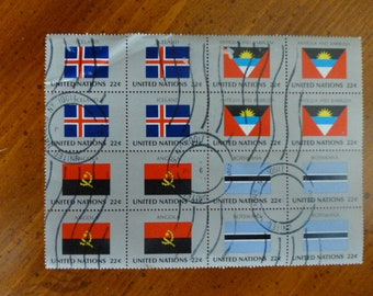 UNITED NATIONS POSTAGE ~~ World Flags 1986