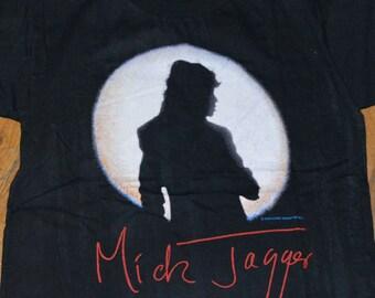 1988 MICK JAGGER The Rolling Stones vintage concert Australia Tour original rock tee t-shirt (M) Medium 80s 1980s tshirt Keith Richards Gift