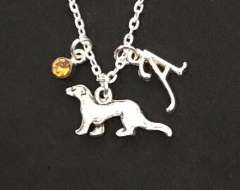 Personalized Ferret Necklace Ferret Jewelry