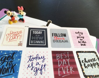 PP108 -- Set of 8pcs  Inspiration Quote  Life Planner Stickers || Perfect 4 Erin Condren, Limelife, Plum Paper, Filofax Planners
