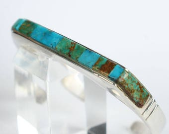 Turquoise Bracelet Cuff Sterling Silver Navajo Indian Native American