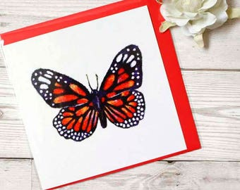 Butterfly Greeting Card, Blank Greeting Card, Art Print Card, Butterfly Birthday Card, Butterfly Thank you Card, Butterfly Lover Gift