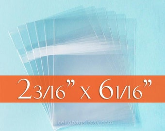 100-Pack 2 3/16 x 6 1/16 Photo Booth  Picture Strip Size Resealable Cello Bags, 1.6 mil poly
