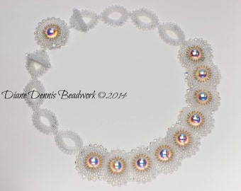 Kit for Under the Dome Necklace in Crystal AB beads with your choice of Accent Color